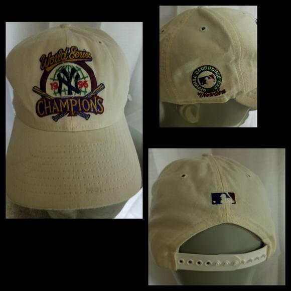 free shipping b4d86 6178a Vintage New Era NY Yankees World Series 96 Champs.  M 5b0db2e961ca108a27c3ebab